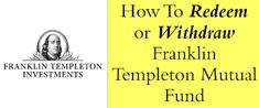 How To Sell or Redeem Online From Franklin Templeton Mutual Fund? Fun Hobbies, Personal Finance, Outdoor Gardens, Investing, Things To Sell, Gardens