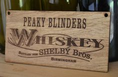 Peaky Blinders Whiskey Sign Shelby Brothers by Dovetailsstencils 1920s Party, Gatsby Party, Peaky Blinders Theme, Peeky Blinders, Shelby Brothers, Prohibition Party, Red Right Hand, 25th Birthday Parties, The Garrison