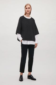 COS image 1 of Cropped oversized knit jumper in Dark Grey Love Clothing b444209d29b1