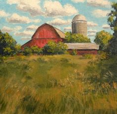 Original Oil Painting Farm Landscape Overgrown by ArtbyDon on Etsy, $100.00