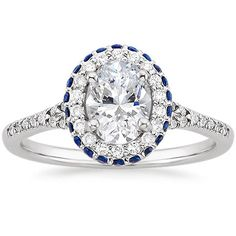 18K White Gold Circa Diamond Ring with Sapphire Accents from Brilliant Earth
