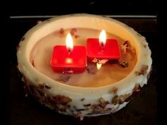 Wax Bowl With Floating Candles