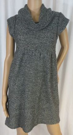 """XHILARATION"" COWL NECK GRAY SWEATER DRESS - PLEASE SEE ALL PICTURES"