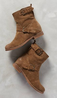 Moto boots in brown suede! Love! Dolce Vita Prestley Moto Boots