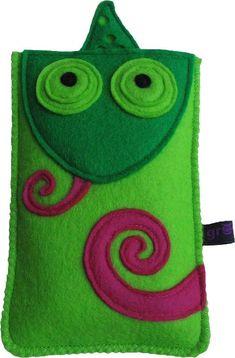 crochet Crochet Chameleon Cell Phone case Too Cute Felt Phone Cases, Felt Case, Felt Pouch, Felt Diy, Felt Crafts, Fabric Crafts, Pochette Portable, Felt Fabric, Felt Animals