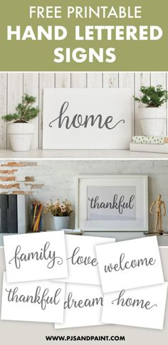Today I wanted to share some free hand lettered printable signs. These signs will are a great way to decorate your home. Free Letter Stencils, Stencils For Wood Signs, Free Stencils, Free Printable Quotes, Templates Printable Free, Free Printables For Home, Printable Kitchen Prints, Free Printable Letter Templates, Printable Designs