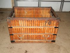 """Wooden industrial shipping packing crate 41""""x28""""x27"""" Wood Crate Box Decorative"""