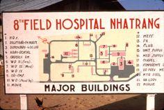 Map of the facilities at the US Army 8th Field Hospital, Nha Trang.
