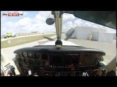 """Il video del """"frontale"""" tra un aereo e un uccello: ferito il pilota  http://tuttacronaca.wordpress.com/2014/02/25/il-video-del-frontale-tra-un-aereo-e-un-uccello-ferito-il-pilota/"""