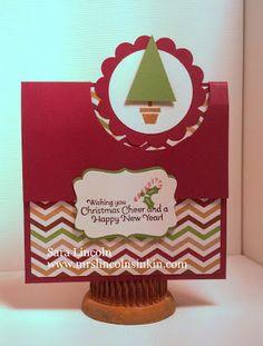 Mrs. Lincoln's Inkin: Fun 3 Fold Gift Card Holder