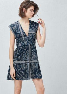 Vestido estampado paisley | MANGO