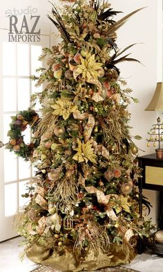 Champagne Frost Christmas Tree Decorating Theme In Champagne And  - Christmas Tree Themes Pictures