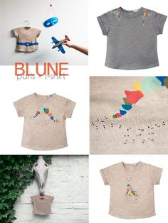 Blune tees for woman and kids