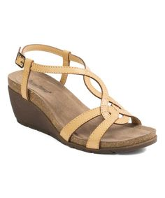 b5ec017f15b5 Loving this Natural Patricia Wedge Sandal on  zulily!  zulilyfinds Pierre  Dumas