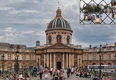 Pont des Arts and Louvre Museum, Paris, France