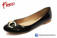 #FredZapaterias Flats, CoffiDu, color negro charol https://www.facebook.com/fred.zapaterias
