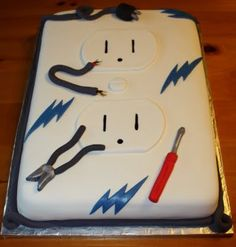 Electric Socket cake/electrician cake