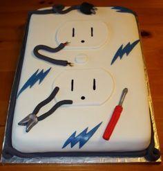 Electric Socket cake/electrician cake