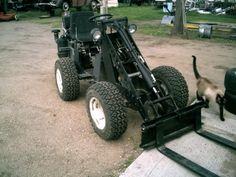 Home made log skidder bull dozer build, starting with J20, need Hydraulic HELP!