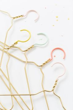 DIY Color Dipped Clothes Hangers
