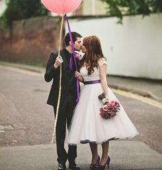 purple crinoline tea-length dress | John Day Photography