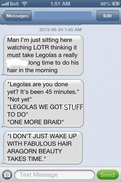 BAHAHHAHA! #legolas #fabulous #lotr YAY, finally found one WITHOUT the curse words!! AWWWW yeah!