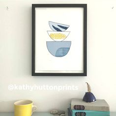 If you're thinking this doesn't look much like my work, {apart from a certain palette similarity ;)} you'd be right! This is one of @kathyhuttonprints gorgeous bowl prints, and I'm sharing it with you because today on #marchmeetthemaker we're recommending a maker! Kathy makes beautiful prints mostly inspired by nature, and she runs workshops in her gorgeous studio. She makes simplicity look deceptively easy! I recommend taking a look at her feed. She's also contributing to the wonderful…