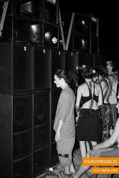 Blackboard Jungle Soundsystem und die Leute beim Rototom Sunsplash 2015. #soundsystem #rototom