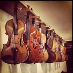 Antique violins, oh I'd love a chance to play them all, to hear their different sounds.
