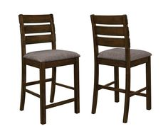 Shop 2 Wiltshire Pecan Grey Wood Fabric Slat Back Counter Height Chairs with great price, The Classy Home Furniture has the best selection of to choose from Counter Height Chairs, Counter Stools, Bar Stools, Coaster Furniture, Cool Furniture, Bedroom Furniture, Grey Wood, Furniture Manufacturers, Quality Furniture