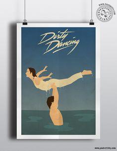 Dirty Dancing Patrick SwayzeMinimalist Movie Posters by Posteritty #DirtyDancing #Posteritty #80s #PatrickSwayze