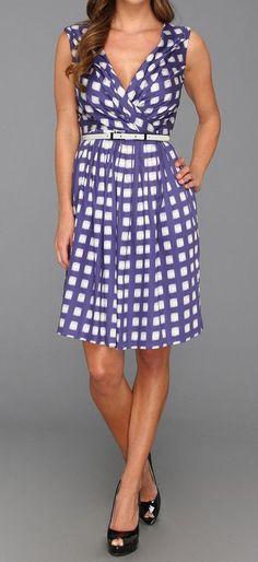 blue checkered adorable dress