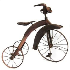 Streamline Art Deco 1930's Rusted Tricycle