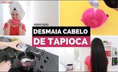 HIDRATAÇÃO DESMAIA CABELO DE TAPIOCA PARA CABELOS SECOS! por Julia Doorman