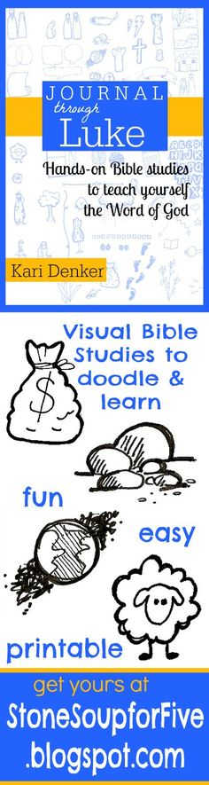 Visual Bible studies. Sketch, Doodle, and learn! #sketchnote #doodle #bible www.stonesoupforfive.blogspot.com