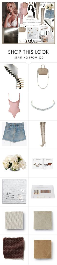 """""""They said I couldn't reach Mars, so I turned to a star, now I might have f*cked around, might have raised up the bar"""" by x0-arielle ❤ liked on Polyvore featuring Schumacher, Givenchy, SPANX, Rivière, Yves Saint Laurent, Karl Lagerfeld, Christian Louboutin, New Growth Designs, Garance Doré and Libeco Home"""