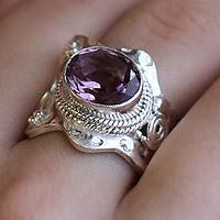Amethyst wrap ring, 'Her Majesty'