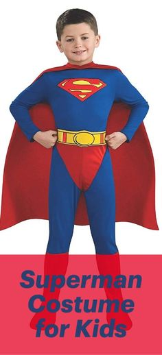 Superman Child's Costume   Family Marvel and DC Comic Costumes. The latest and greatest superhero costumes for men, women, boys, girls, kids and the whole family. Heroic outfits for the next superhero party, superhero birthday, cosplay events or the next comic convention. Superhero Costumes for Kids. Toddler Superhero Costume.  #affiliatelink #marvel #marvelsuperheroes #marvelcostumes #superheroparty #superherocostumes #superherobirthday #cosplaycostumes #cosplaystyle Dc Comic Costumes, Superman Costumes, Cosplay Costumes, Toddler Superhero Costumes, Superhero Party, Cosplay Events, Comic Conventions, Family Costumes, Super Hero Costumes