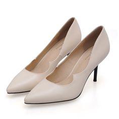 bde7dac5081 2017 Size 34-41 Fashion Sheepskin Beige Sexy High Heels Women Pumps Ladies  Shoes Woman