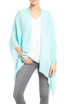 Free shipping and returns on Echo Fringe Trim Cape at Nordstrom.com. An ultrasoft, fringe-trimmed wrap makes for a versatile addition to your casual or travel style.  in purple