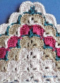 @ MyPicot - Free crochet pattern - stitch pattern for triangle shawl