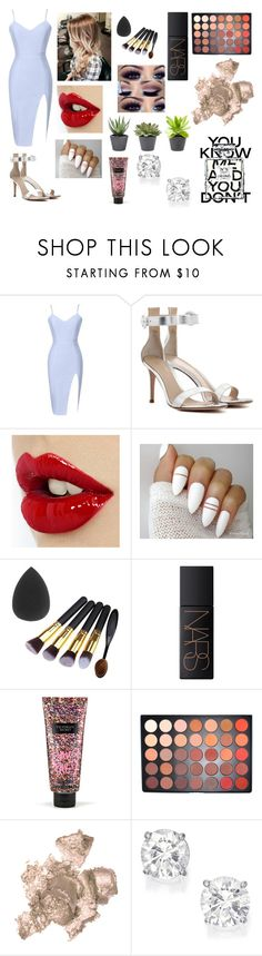 """""""PARTY TIME"""" by bronte-ryan ❤ liked on Polyvore featuring Gianvito Rossi, NARS Cosmetics, Victoria's Secret, Morphe, By Terry and Chanel"""
