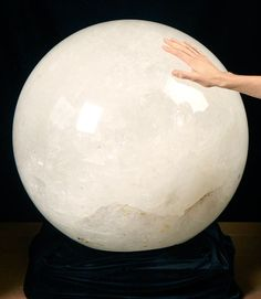 Buy Pound Quartz Crystal Sphere (Brazil Massive Quartz Sphere for sale online. One of the largest quartz spheres in the world, buy it here. Minerals And Gemstones, Crystals Minerals, Rocks And Minerals, Stones And Crystals, Raw Gemstones, Crystal Sphere, Crystal Ball, Quartz Crystal, Mineral Stone
