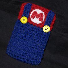 Crochet Phone Cover funny iphone case mario crochet - idea for coffee cozy Crochet Phone Cover, Crochet Case, Love Crochet, Crochet Gifts, Diy Crochet, Single Crochet, Crochet Flowers, Funny Iphone Cases, Custom Iphone Cases