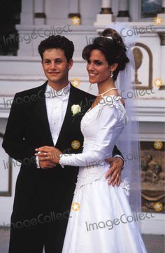 Kirk Cameron and Chelsea Noble on their wedding day in 1991 Star Wedding, Wedding Show, Wedding Pics, Wedding Couples, Wedding Bride, Wedding Gowns, Wedding Day, Married Couples, Celebrity Wedding Photos
