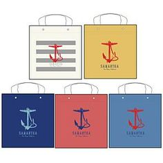 anchor canvas totes, personalized. DG!