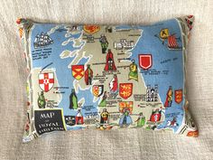 A personal favourite from my Etsy shop https://www.etsy.com/au/listing/520218458/map-of-britain-cushion-cover-cushion