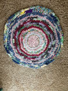 Crochet Rag Rug by BIZEbeez on Etsy, $30.00...made by Brittani