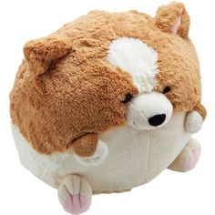 Get cozy with this cuddly Corgi pillow bySquishable for a darling day of reading and relaxing! Whether you miss your family pet or simply want a sweet accent fo...