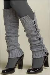 LOVE THIS!  Tights & leg warmers.. so chic!!